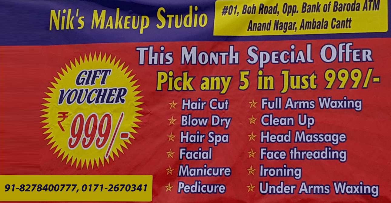 best beauty salon in ambala cantt